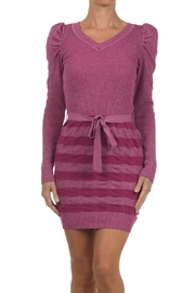 Velzera Bodycon Sweater Dress - Front cropped