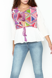 Velzera Colorful Embroidered Top - Product Mini Image