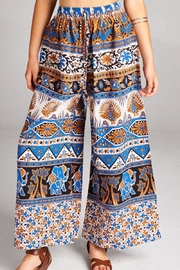 Velzera Elephant Printed Palazzo Pants - Front full body