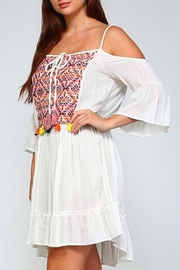 Velzera Embroidered Dress - Front full body