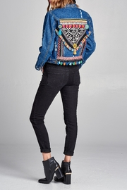 Velzera Embroidered Embellished Jean-Jacket - Product Mini Image