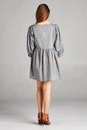 Velzera Embroidered-Peasant Tunic Dress - Front full body