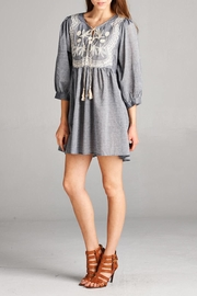 Velzera Embroidered-Peasant Tunic Dress - Front cropped
