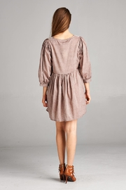 Velzera Embroidered-Peasant Tunic Dress - Side cropped