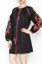 Velzera Embroidered Shirt Dress - Front cropped