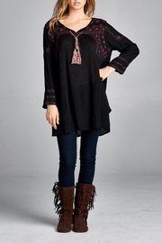 Velzera Embroidered Swing Tunic Top - Product Mini Image