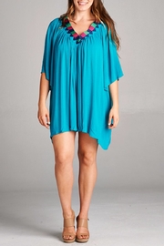 Velzera Embroidered V Neck Tunic - Front cropped