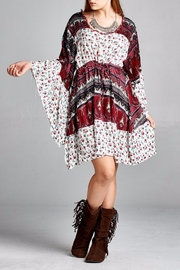 Velzera Floral Bell-Sleeve Dress - Front cropped