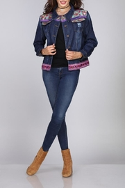 Velzera Floral Sequined Jean-Jacket - Product Mini Image