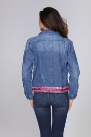 Velzera Floral Sequined Jean-Jacket - Front full body