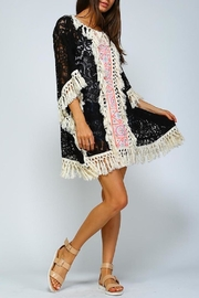 Velzera Fringe Poncho Dress - Product Mini Image