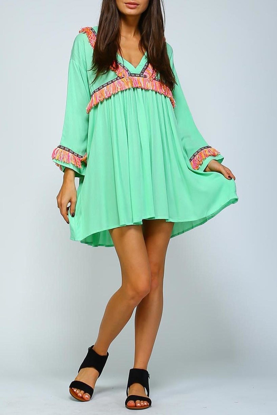 Velzera Fringe Shift Dress - Main Image