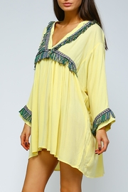 Velzera Fringe Shift Dress - Front full body