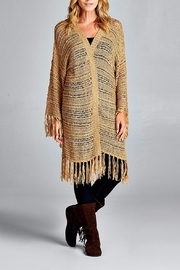 Velzera Fringe Trim Open Cardigan - Product Mini Image