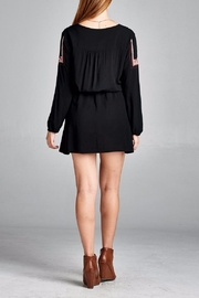 Velzera Front Embroidered Tunic Dress - Back cropped