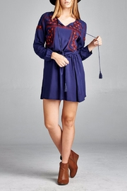 Velzera Front Embroidered Tunic Dress - Front cropped