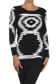 Velzera Geometric Sweater Tunic Top - Product Mini Image