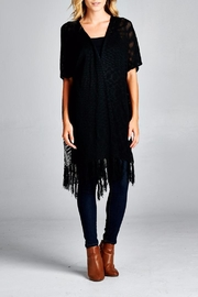 Velzera High Low Fringe Cardigan - Product Mini Image