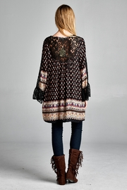 Velzera Lace-Accent Tunic Dress - Front full body