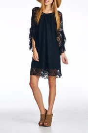 Velzera Lace Gathered Shift-Dress - Product Mini Image