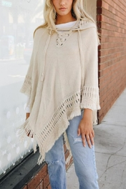 Velzera Lace-Up Knit Poncho - Product Mini Image