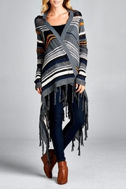 Velzera Multi Striped Cardigan - Front cropped
