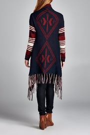 Velzera Multi Striped Open Cardigan - Front full body