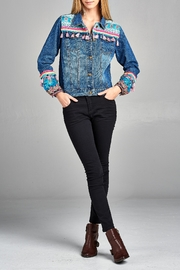 Velzera Multi-Tassel Embroidered Jean-Jacket - Product Mini Image