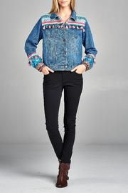 Velzera Multi-Tassel Embroidered Jean-Jacket - Front cropped
