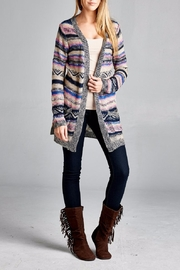 Velzera Multicolor Open Cardigan - Front cropped