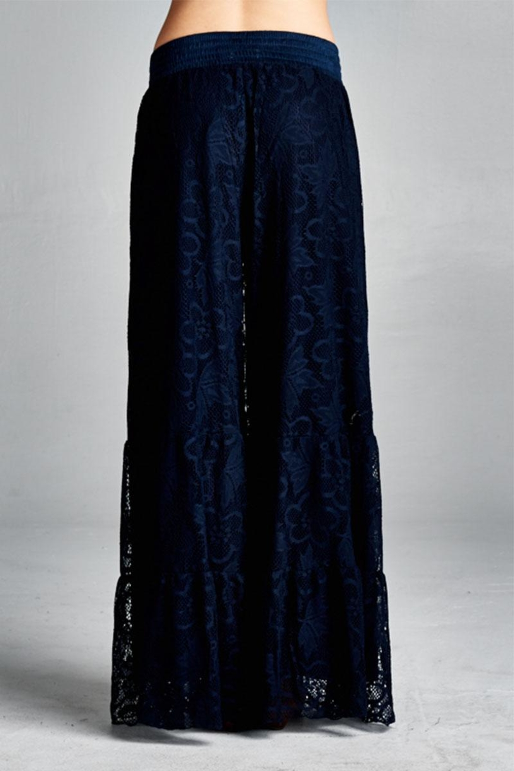 Velzera Palazzo Lace Pants - Side Cropped Image