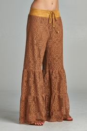 Velzera Palazzo Lace Pants - Front full body