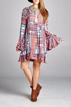 Shoptiques Product: Patchwork Bell-Sleeve Dress
