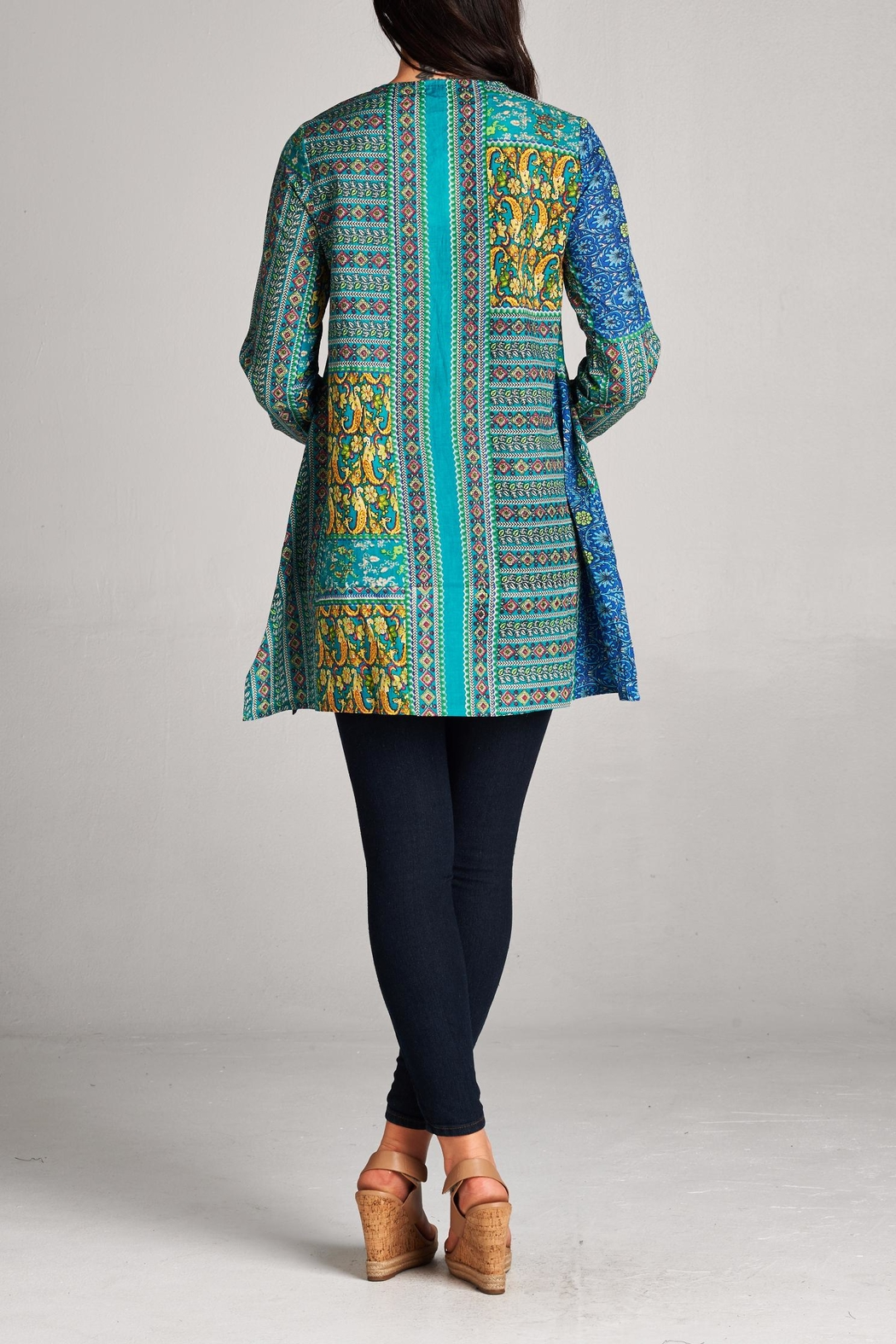 Velzera Patchwork Tunic Top - Side Cropped Image