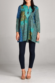 Velzera Patchwork Tunic Top - Front cropped
