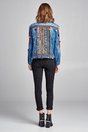 Velzera Pom-Pom Embroidered Jean-Jacket - Side cropped