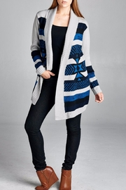 Velzera Shawl Collar Open Cardigan - Product Mini Image