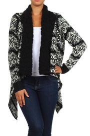 Velzera Sidetail Open Cardigan - Front cropped