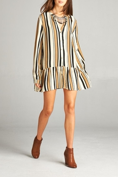 Shoptiques Product: Stripe Button-Up Tunic