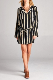 Velzera Stripe Tie-Waist Tunic - Product Mini Image
