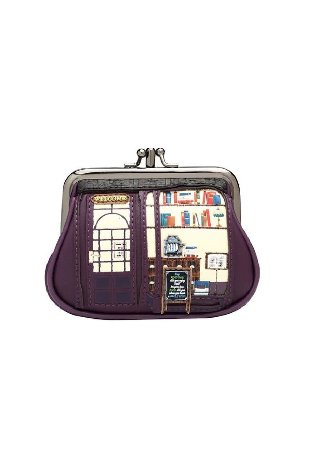 Vendula London Bookshop Coin Purse - Front Cropped Image