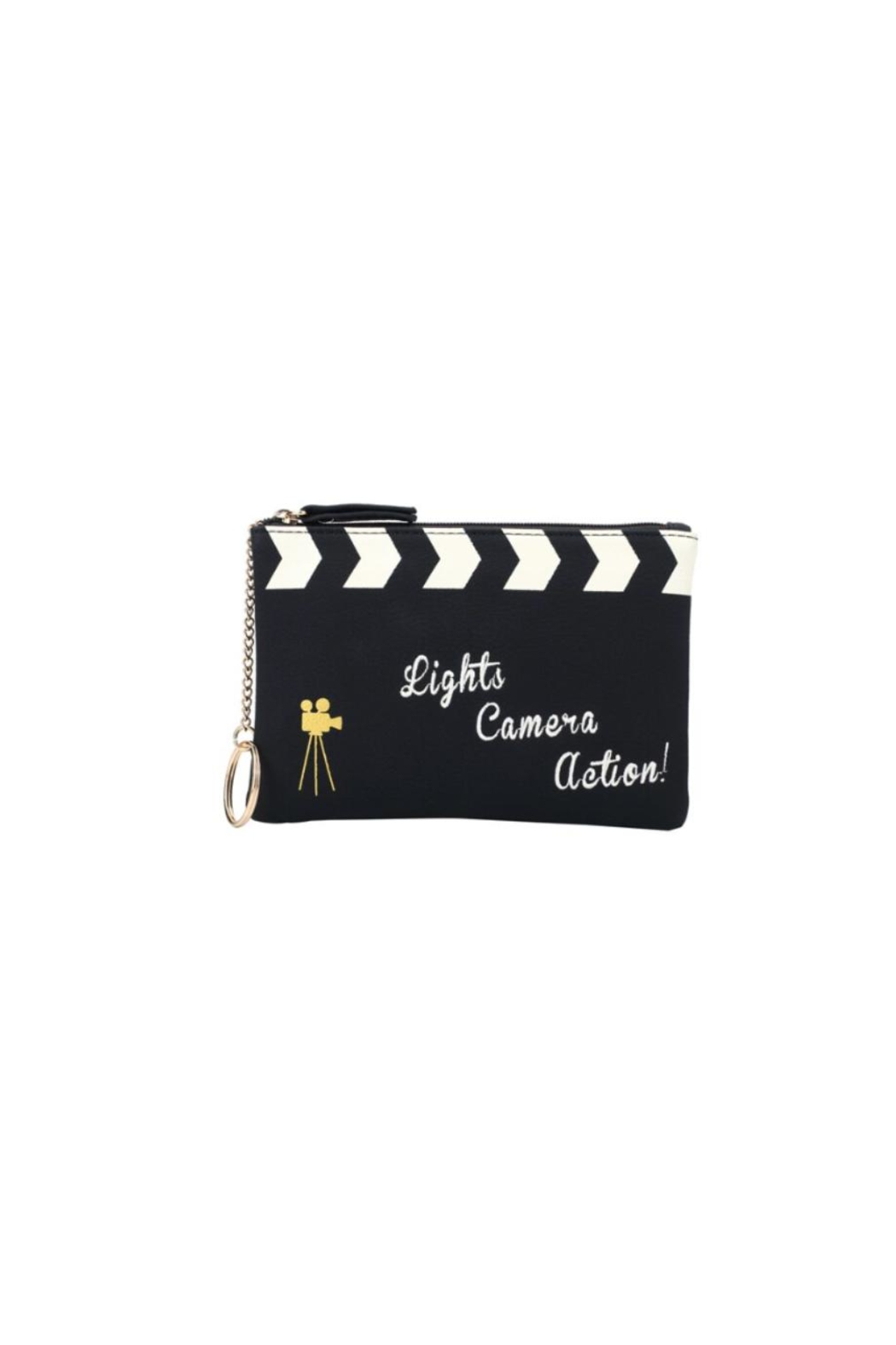Vendula London Cinema-Clacket Zipper Coin-Purse - Front Cropped Image