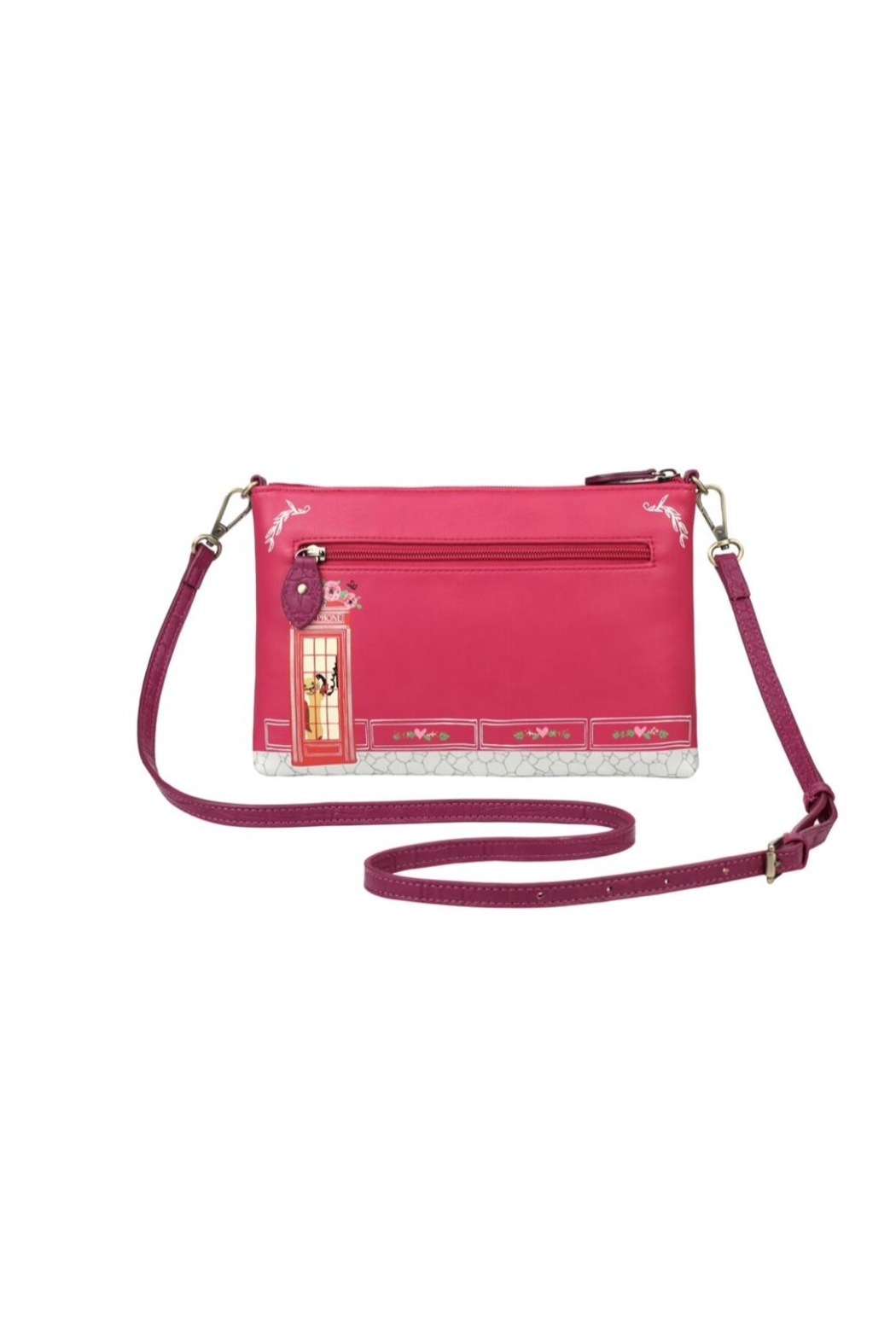 Vendula London Pink Biscuit-Shop Pouch-Bag - Front Full Image