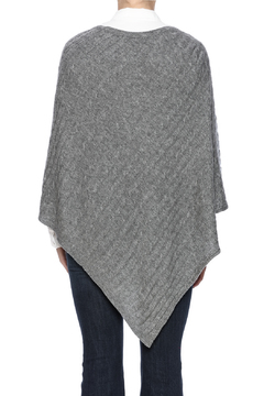 Venezia Cashmere Cable Knit Cashmere Poncho - Alternate List Image