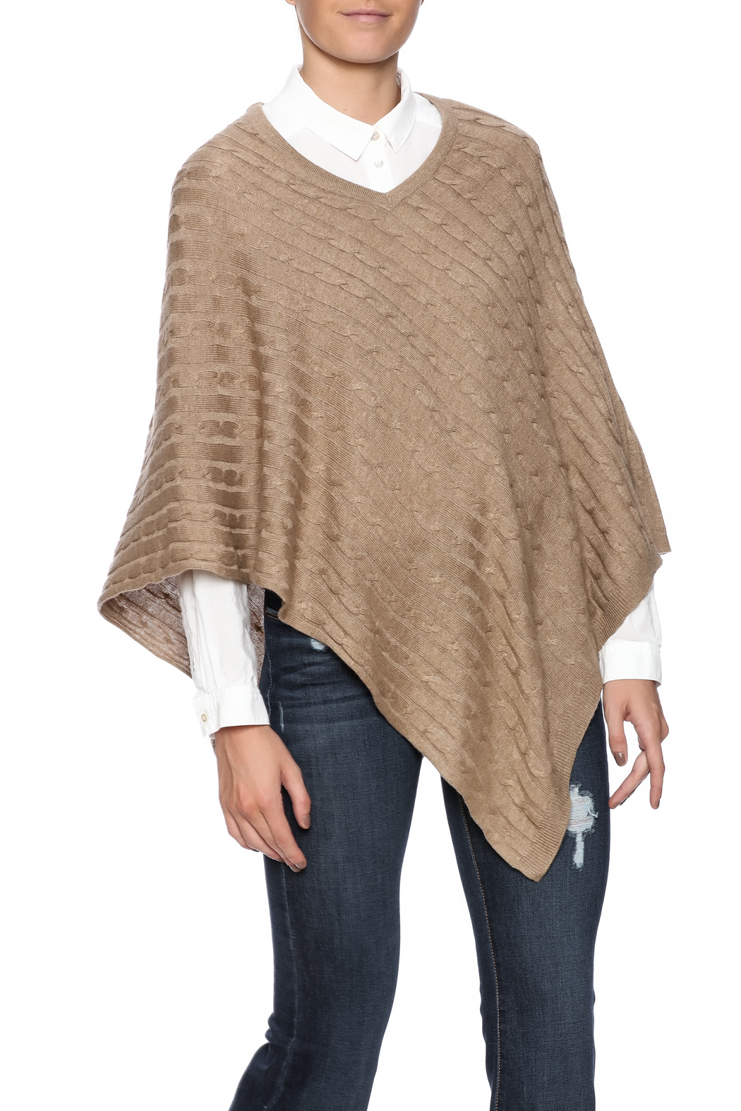 Venezia Cashmere Cable Knit Cashmere Poncho from San Diego ...