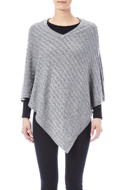 Venezia Cashmere Cashmere Cable-Knit Poncho - Front full body
