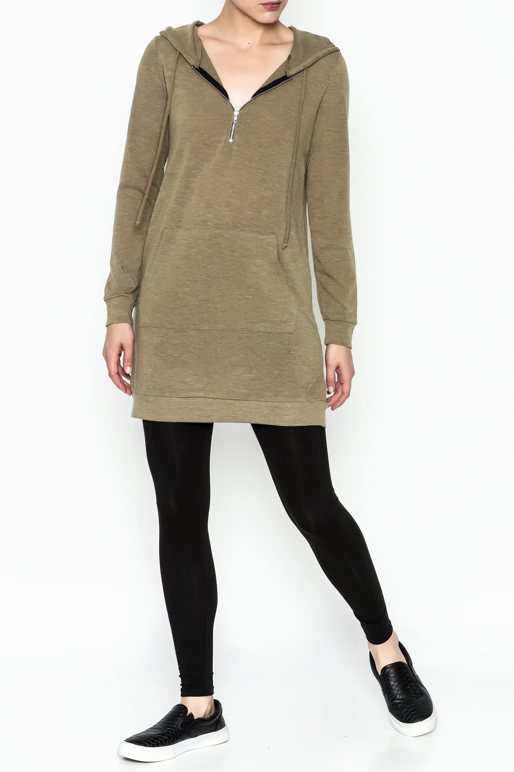 Venezia Cashmere Cashmere Hoodie - Side Cropped Image