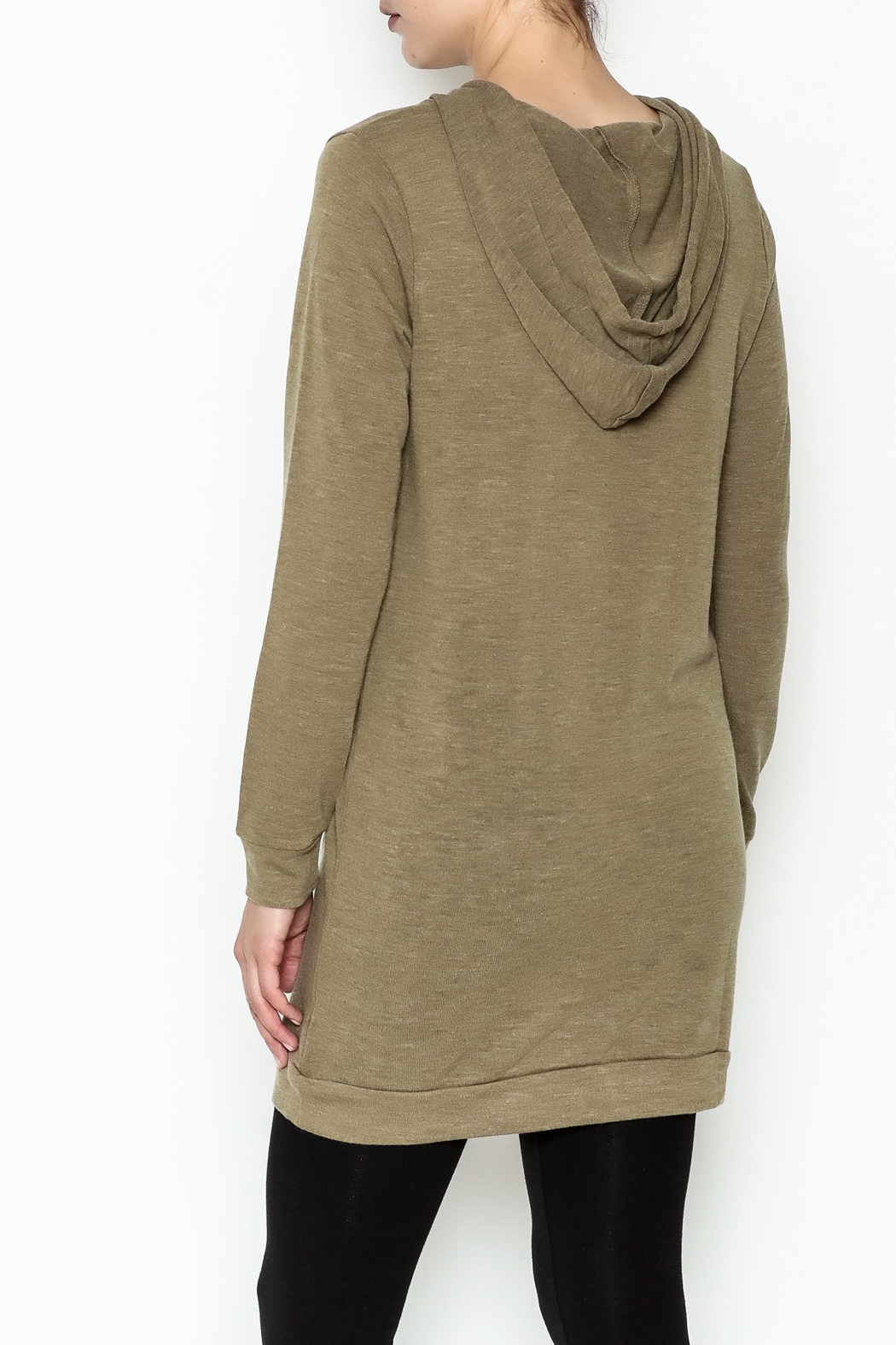 Venezia Cashmere Cashmere Hoodie - Back Cropped Image