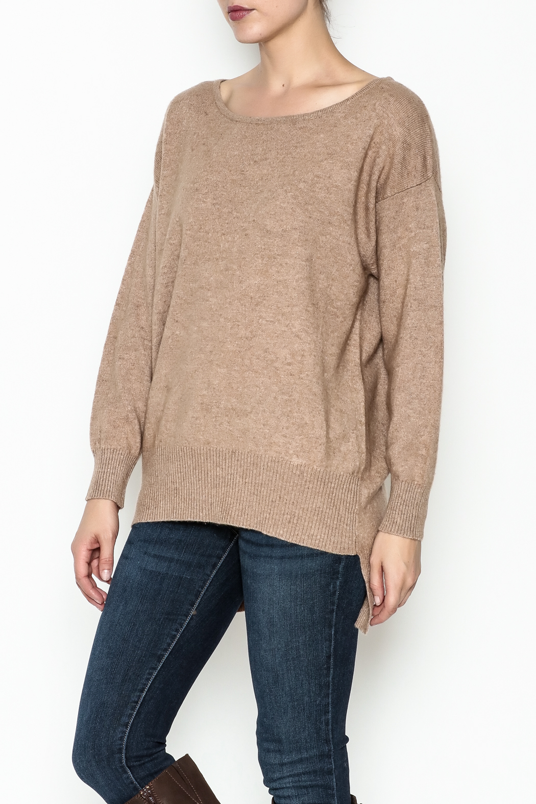 Venezia Cashmere Crew Neck Sweater - Front Cropped Image