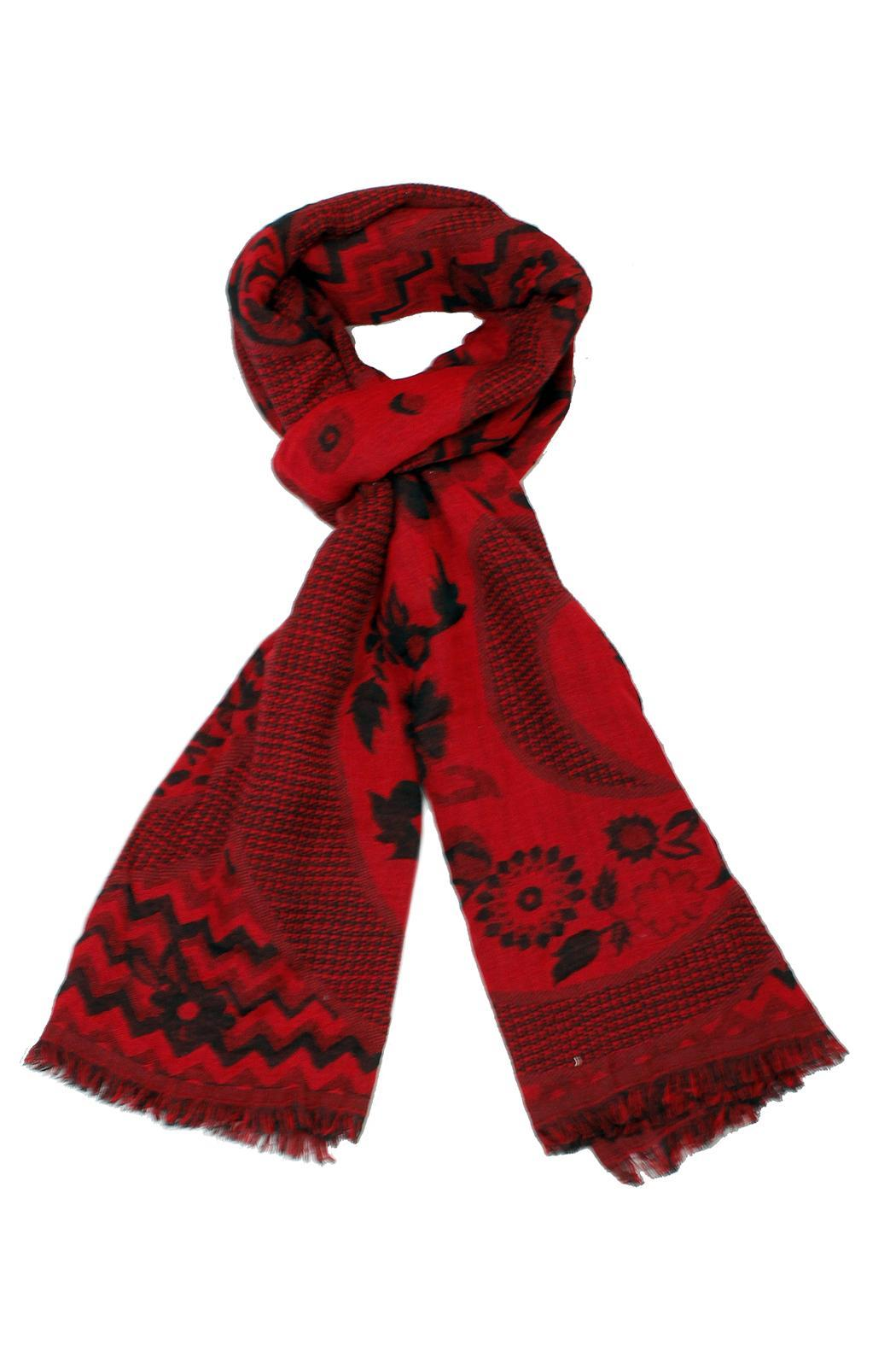 Venezia Cashmere Handmade Wool Scarf - Front Cropped Image